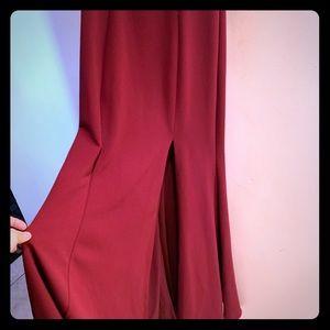 Red Wine Long Dress